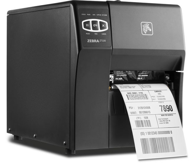 Zebra® ZT220, Direct Thermal, Ethernet, Cutter, 300DPI, Labelprinter