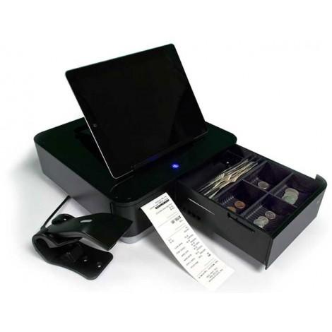 Star mPOP Bluetooth Pengeskuffe, Kvitteringsprinter, 1D Scanner - Sort