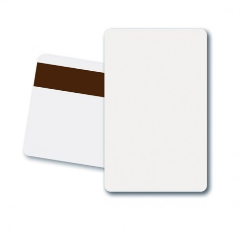 Zebra Plastic Card, MS, LOCO, Pack of 500, White