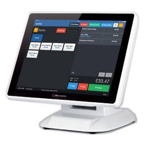 "ColorMetrics P2100, POS-Computer, 38.1cm-15"", Resistive Touch, Windows POSReady 7 EN - White"