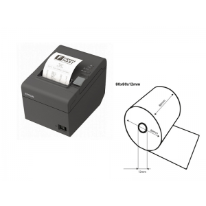 Epson TM-T20ii USB/RS232 + 5 Rolls Thermal receipt paper