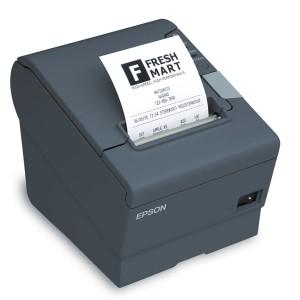 EPSON TM-T88V, 180DPI, USB, Ethernet, Mørkegrå