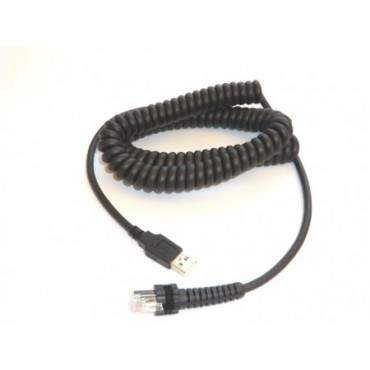 Datalogic USB Cable Coiled, 3.6m