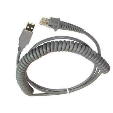 Datalogic USB Cable, Coiled, 2.5m, Type A - CAB-524
