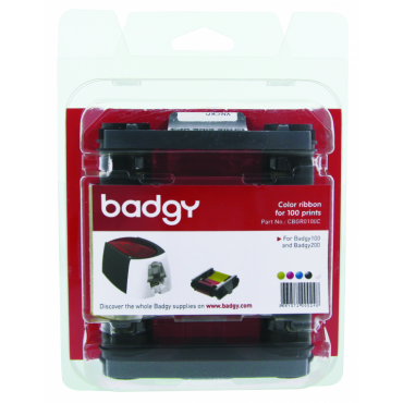 Evolis Badgy200 Colour Ribbon YMCKO - 100 Cards