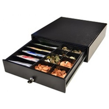 APG ECD330, Cashdrawer, Frontopening, Electric, Black