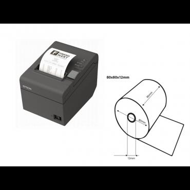 Epson TM-T20iii USB/RS232 + 5 Ruller Termisk kvitteringspapir