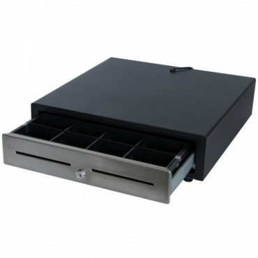 POS-C Electric Cashdrawer E410 RVS-Front