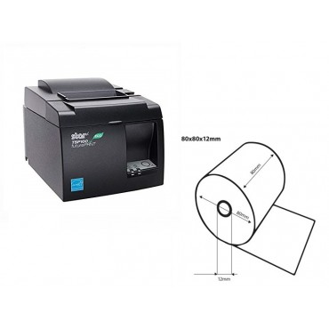 Star TSP143IIU ECO USB + 5 Rulle Termisk Papir