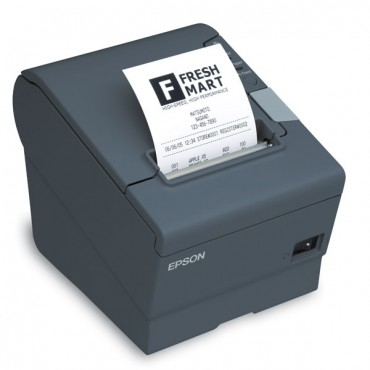 EPSON TM-T88V POS-Printer, USB, Ethernet-Network, Mørkegrå