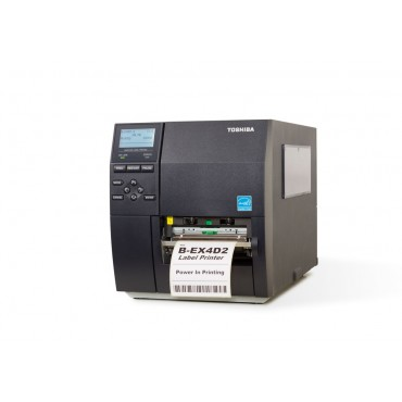 Toshiba B-EX4D2-GS12-QM-R, Direct Thermal, 203DPI, USB, LAN, Labelprinter